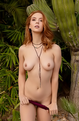Kayla Coyote Strips Nude In Sunny Mexico
