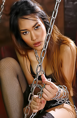 Hot Asian Loretta Fay in Chains